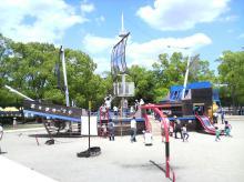 万博公園 船の遊具